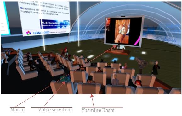 Conférence de Marco Bertolini dans l'univers virtuel MétaLectures