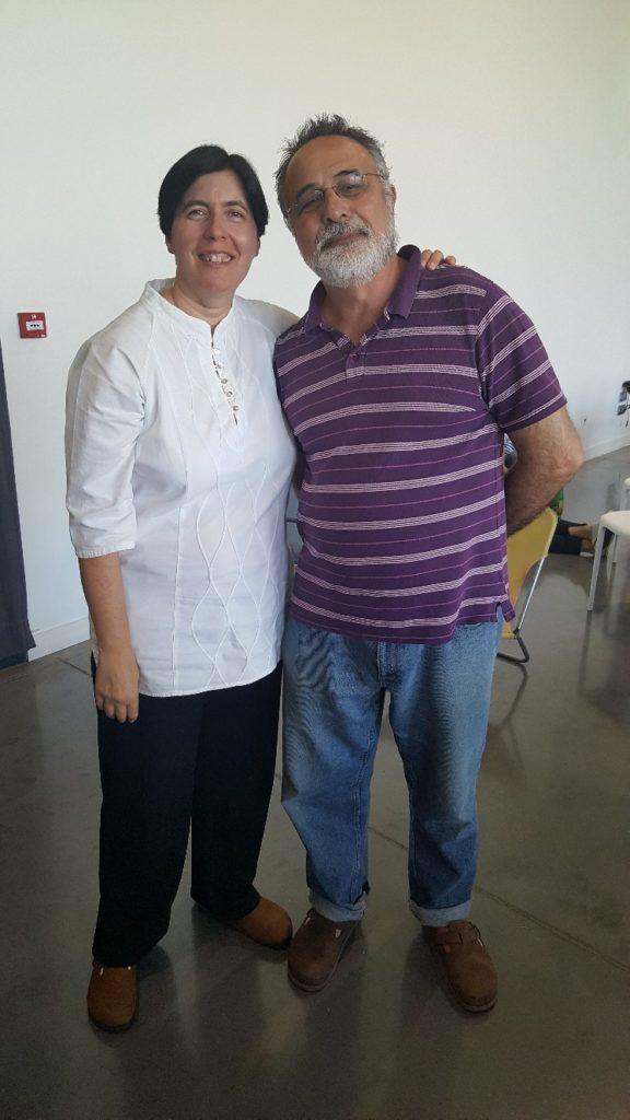 Isabelle Padovani et Bernard Lamailloux posant pour la photo