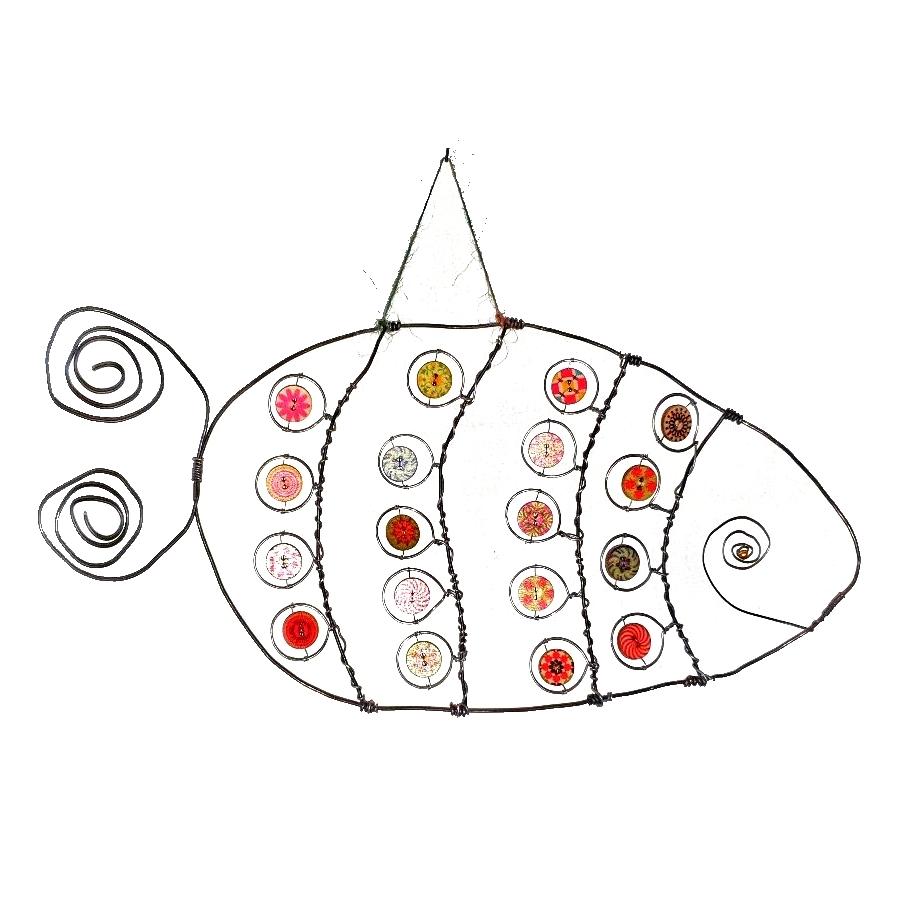 Le poisson sur le mur