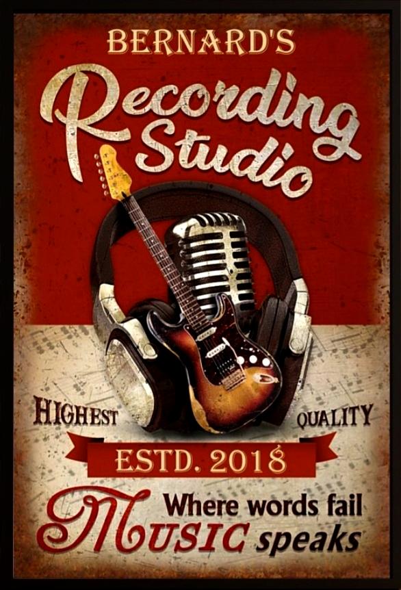 (home) studio d'enregistrement de Bernard