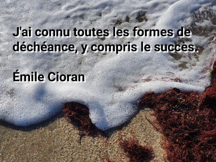Citation Emilie Cioran : J'ai connu toutes les formes de déchéance y compris le succès.