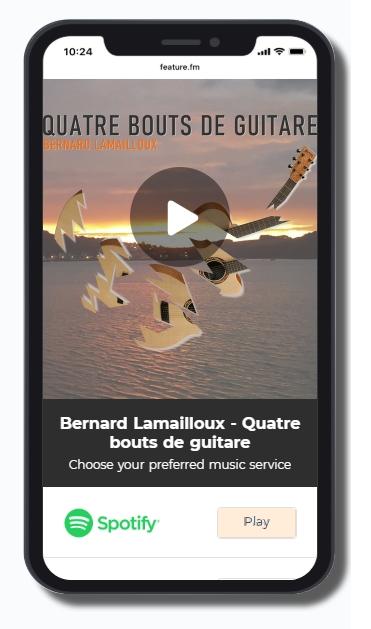 Quatre bouts de guitare - pour choisir votre plateforme d'écoute...